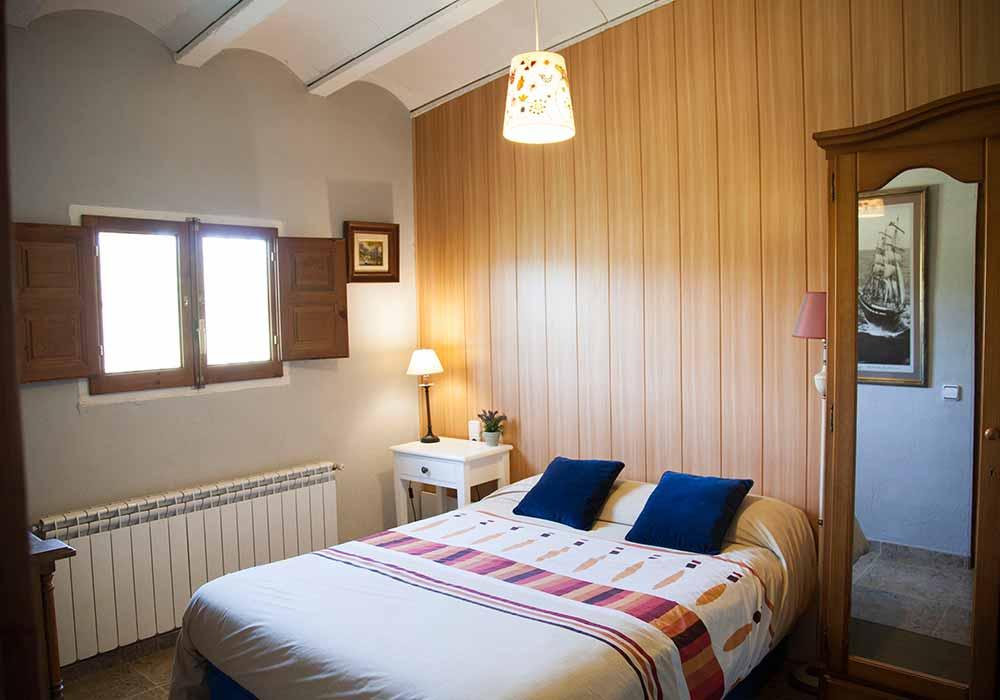 Habitación doble del Ecoturismo rural Villafeliche