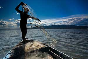 Pesca tradicional o a la Paupa
