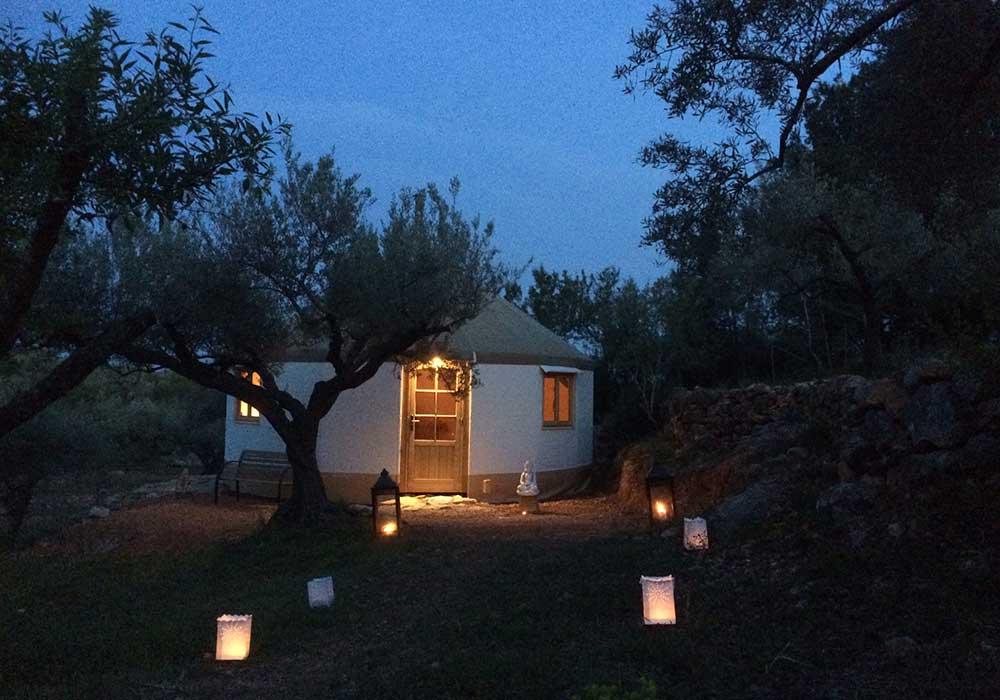 yurta mongola del Ecoturismo rural Villafeliche